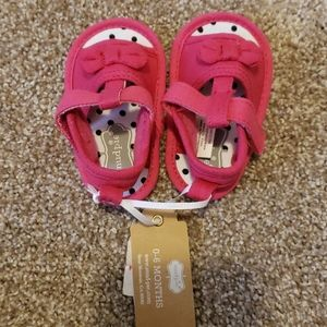 0 to 6 months pink sandals